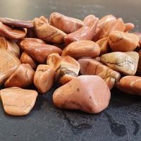 Розов овален камък - мрамор